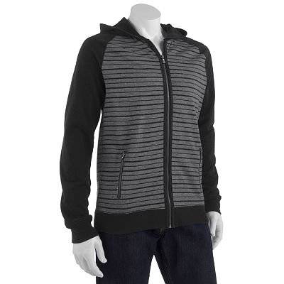 Rock and Republic Striped French Terry Hoodie - Big and Tall