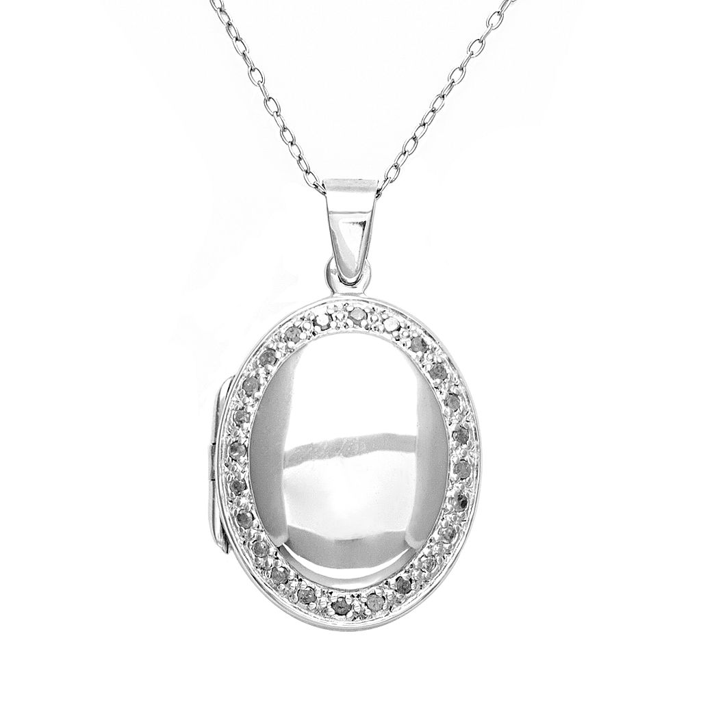 Sterling Silver 1/4-ct. T.W. Diamond Locket