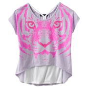 Rock and Republic Neon Tiger Hi-Low Top and Racerback Tank Set - Girls 7-16