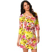 daisy fuentes Floral Shift Dress