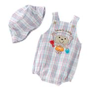 First Moments Beach Baby Sunsuit and Sun Hat Set - Baby