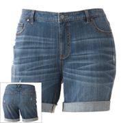 Jennifer Lopez Boyfriend Denim Shorts - Women's Plus
