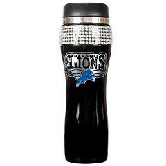 Detroit Lions Stainless Steel Bling Tumbler