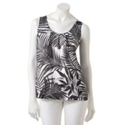 Dana Buchman Leaf Charmeuse Top