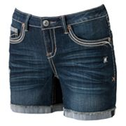 Hydraulic Frayed Cuffed Midi Shorts - Juniors