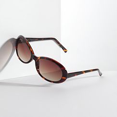 Simply Vera Vera Wang Tortoise Oval Sunglasses