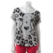 Rock and Republic Cheetah Embellished Tee