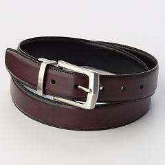 Men's Croft & Barrow® Burgundy Reversible Belt