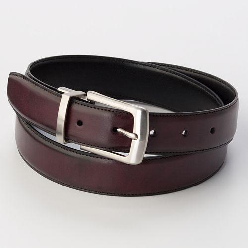 Men's Croft & Barrow® Burgundy Reversible Belt