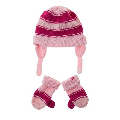 Levi's Colorblock Knit Hat and Mittens Set - Toddler