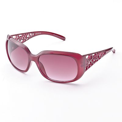 daisy fuentes Cutout Rectangular Sunglasses