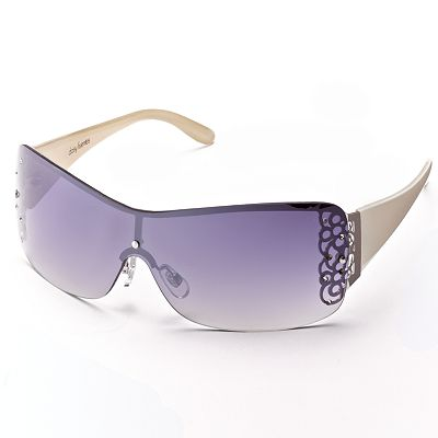 daisy fuentes Rhinestone Shield Sunglasses