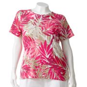 Croft and Barrow Leaf Tee - Women's Plus