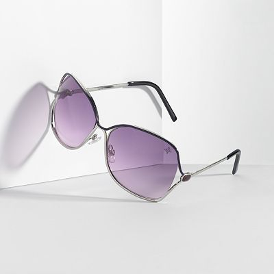 Simply Vera Vera Wang Vented Butterfly Sunglasses