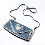 Princess Vera Wang Lucy Metallic Heart Clutch