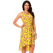 daisy fuentes Floral Hi-Low Dress