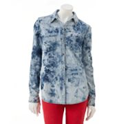 Rock and Republic Feather-Bleach Chambray Shirt