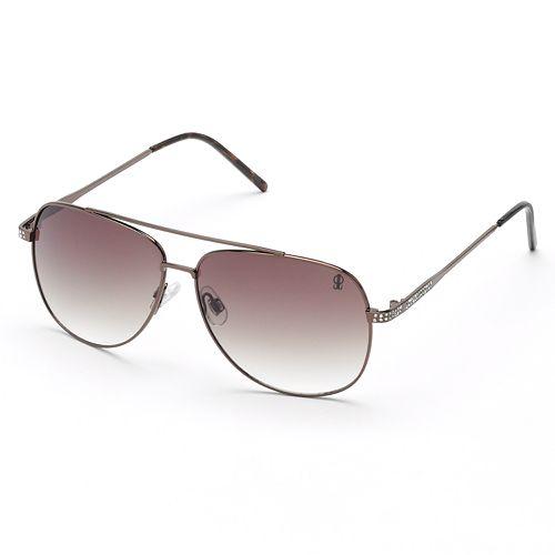 Jennifer Lopez Rhinestone Aviator Sunglasses