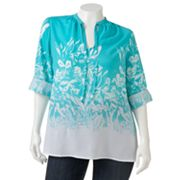 Jennifer Lopez Floral Crepe Top Set - Women's Plus