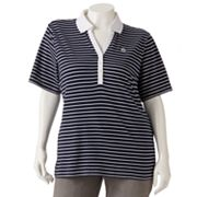 Cathy Daniels Striped Polo - Women's Plus