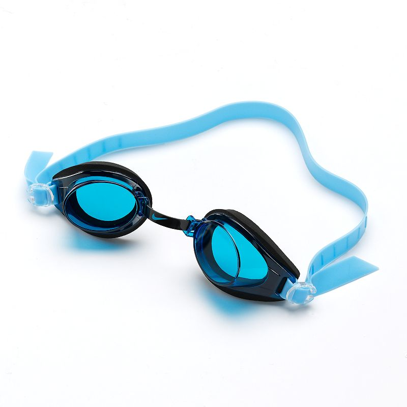 Nike Proto Swim Goggles, Blue Adjustable nose bridge and headstrap for universal fit. Anti-fog coating providestrouble-free visiblity. Details: One size fits most Imported Color: Blue. Gender: Male. Age Group: Adult. Pattern: Solid. Material: Nylon Spandex.