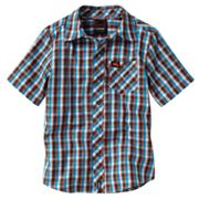 Tony Hawk Gingham Plaid Woven Button-Down Shirt - Boys 4-7x