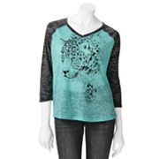 Mudd Cheetah Raglan Top - Juniors