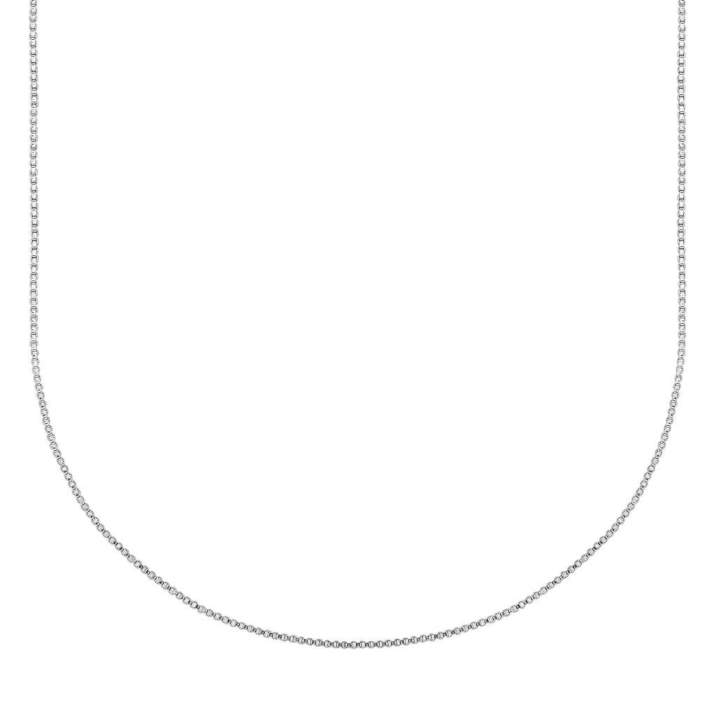Splendid Silver Silver-Bonded Box Chain Necklace - 16-in.