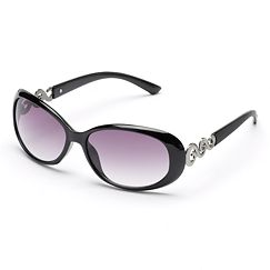 SONOMA life and style Squiggle Oval Sunglasses