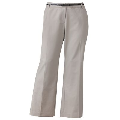 Apt. 9 Curvy Straight-Leg Trouser Pants - Women's Plus
