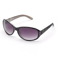 SONOMA life and style Floral Etched Oval Sunglasses