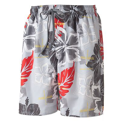 Newport Blue Floral Hawaiian Swim Trunks
