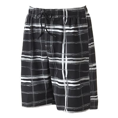Newport Blue On Course Plaid Swim Trunks