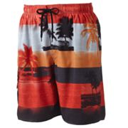 Newport Blue Red Sky At Night Volley Shorts