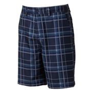 Newport Blue Rocky Reef Plaid Hybrid Shorts