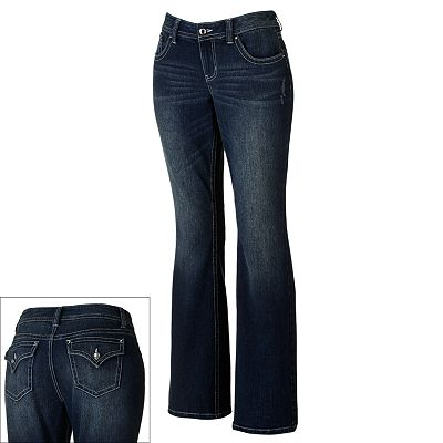 Apt. 9 Curvy Fit Distressed Bootcut Jeans