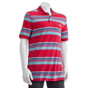Chaps Slim Custom-Fit Caribbean Stripe Polo