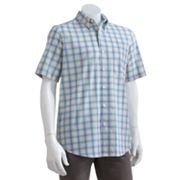 Chaps Blue Harbor Plaid Casual Button-Down Shirt