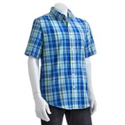 Chaps Shettle Wood Plaid Casual Button-Front Shirt