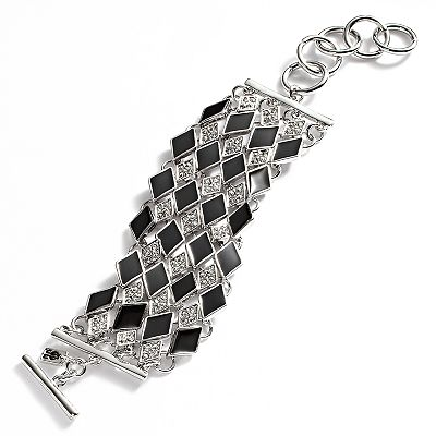 Jennifer Lopez Silver Tone Simulated Crystal Bracelet