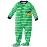 Carter's Dinosaur Striped Footed Pajamas - Toddler