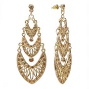 Jennifer Lopez Simulated Crystal Chandelier Earrings