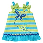 Youngland Butterfly Striped Sundress - Girls 4-6x
