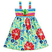 Youngland Striped Floral Sundress - Girls 4-6x