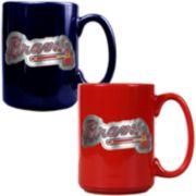 Atlanta Braves 2-pc. Ceramic Mug Set
