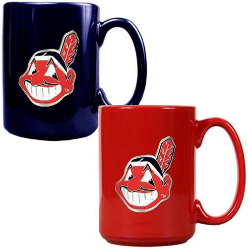 Cleveland Indians 2-pc. Ceramic Mug Set