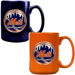 New York Mets 2 pc Ceramic Mug Set