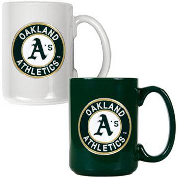 Oakland A's 2-pc. Ceramic Mug Set