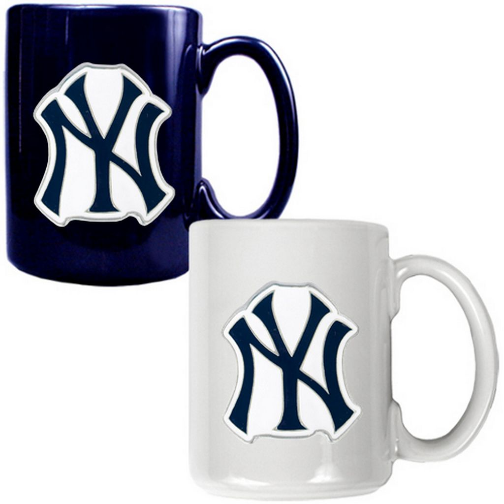 New York Yankees 2-pc. Ceramic Mug Set