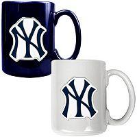New York Yankees 2 pc Ceramic Mug Set